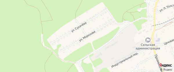 Улица Морозова на карте станции Озерки с номерами домов