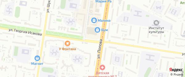 Народная площадь на карте Барнаула с номерами домов