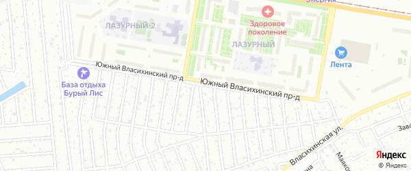 Южный Власихинский проезд на карте Барнаула с номерами домов