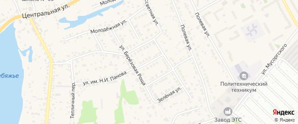 Отрадная улица на карте села Лебяжьего с номерами домов