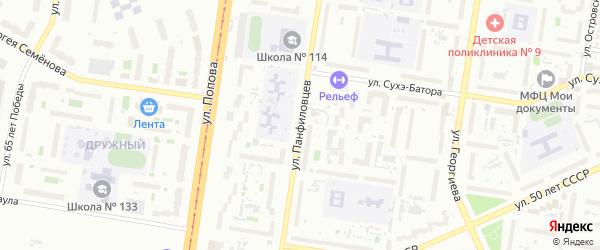 Улица Панфиловцев на карте Барнаула с номерами домов