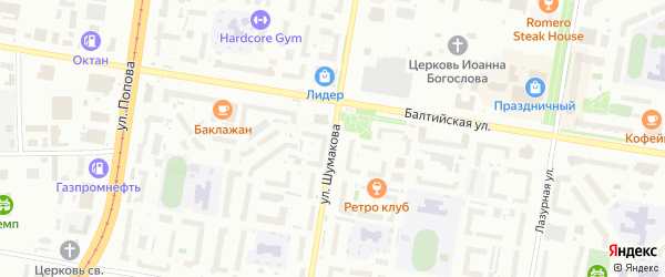 Улица Шумакова на карте Барнаула с номерами домов