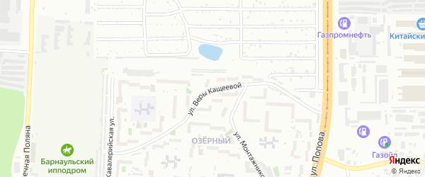 Улица Веры Кащеевой на карте Барнаула с номерами домов