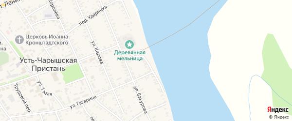 Набережная улица на карте села Усть-Чарышской Пристани с номерами домов