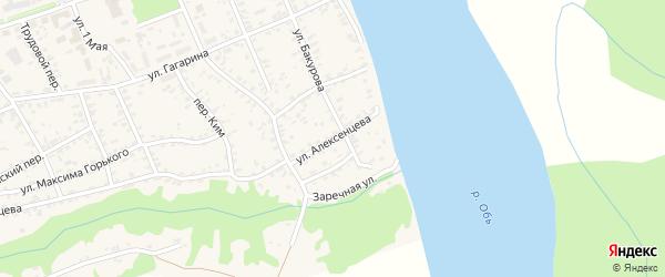 Селькоровский переулок на карте села Усть-Чарышской Пристани с номерами домов