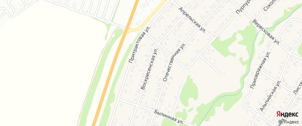 Воскресенская улица на карте поселка Бельмесево с номерами домов
