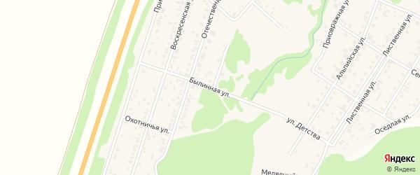 Былинная улица на карте поселка Бельмесево с номерами домов