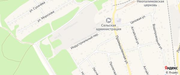 Индустриальный переулок на карте станции Озерки с номерами домов