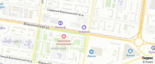Власихинская улица на карте Барнаула с номерами домов