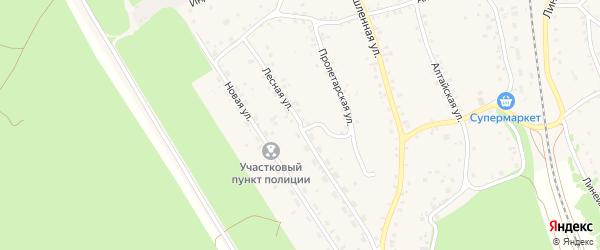 Лесная улица на карте станции Озерки с номерами домов