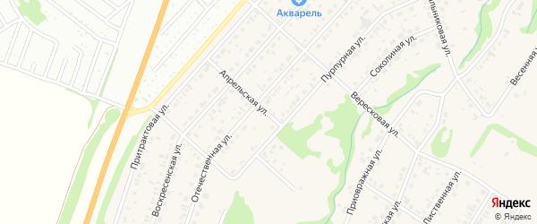 Апрельская улица на карте поселка Бельмесево с номерами домов