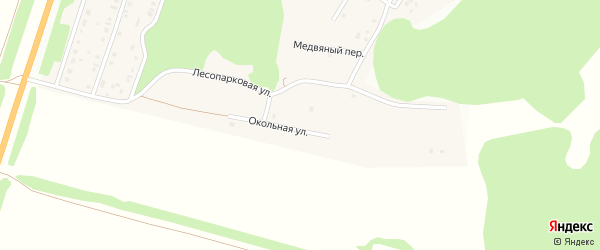 Окольная улица на карте поселка Бельмесево с номерами домов