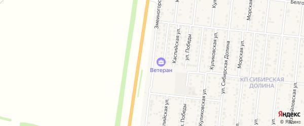 Змеиногорская улица на карте поселка Бельмесево с номерами домов