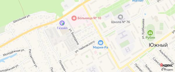 Донской проезд на карте Южного поселка с номерами домов