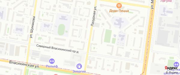 Лазурная улица на карте Барнаула с номерами домов