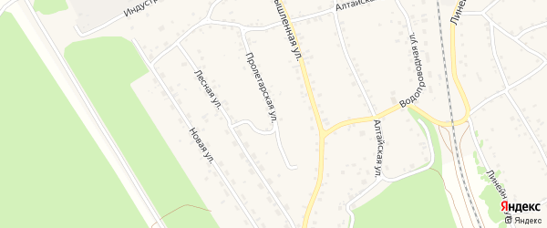 Пролетарская улица на карте станции Озерки с номерами домов