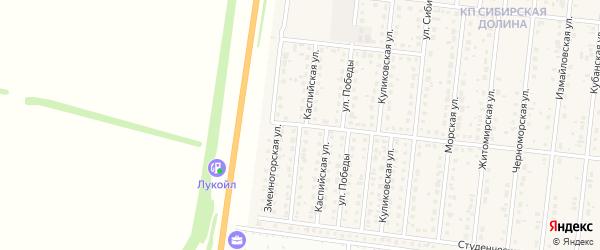 Малая Каспийская улица на карте поселка Бельмесево с номерами домов