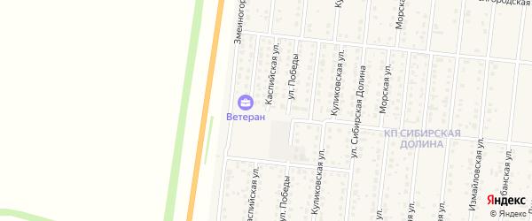 Каспийская улица на карте поселка Бельмесево с номерами домов