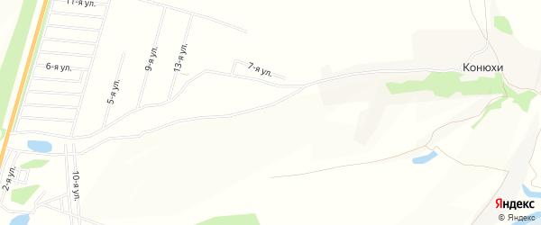 Карта садового некоммерческого товарищества Горного лена города Барнаула в Алтайском крае с улицами и номерами домов