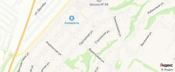 Пурпурная улица на карте поселка Бельмесево с номерами домов