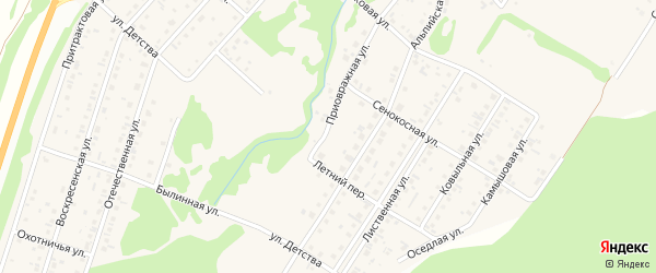 Приовражная улица на карте поселка Бельмесево с номерами домов