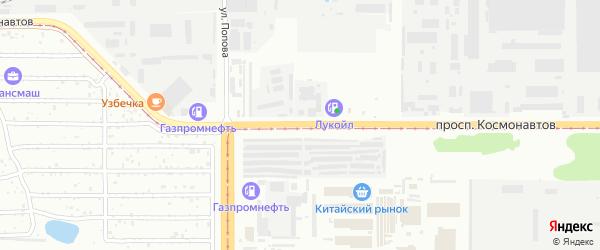 Проспект Космонавтов на карте Барнаула с номерами домов