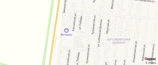 Улица Победы на карте поселка Бельмесево с номерами домов
