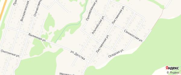 Альпийская улица на карте поселка Бельмесево с номерами домов