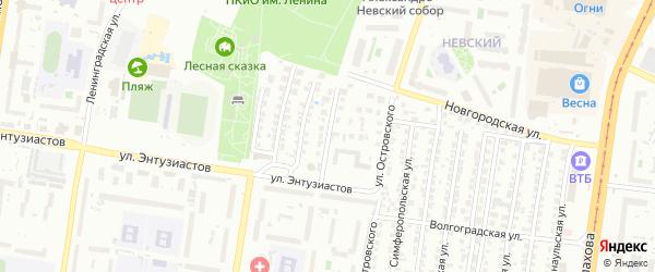 Станкостроительный 1-й проезд на карте Барнаула с номерами домов