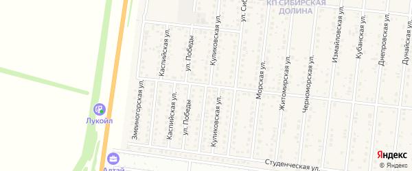 Малая Куликовская улица на карте поселка Бельмесево с номерами домов