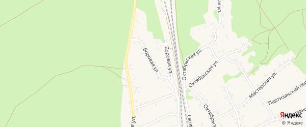 Боровая улица на карте станции Озерки с номерами домов