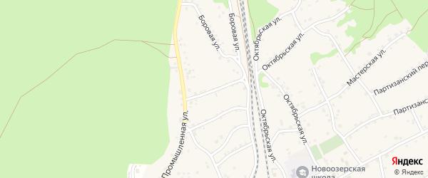 2-й Промышленный переулок на карте станции Озерки с номерами домов