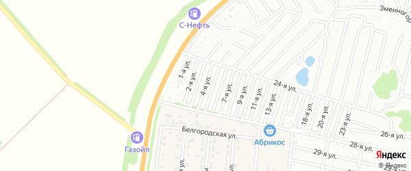 Четвертая улица на карте садового некоммерческого товарищества Дорожника с номерами домов