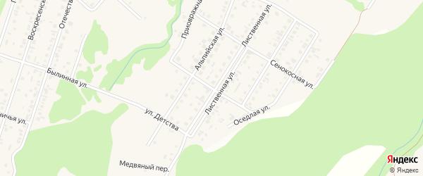 Летний переулок на карте поселка Бельмесево с номерами домов