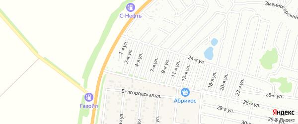 Шестая улица на карте садового некоммерческого товарищества Дорожника с номерами домов