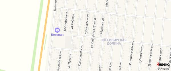 Куликовская улица на карте поселка Бельмесево с номерами домов