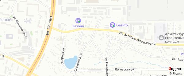 Совхозная улица на карте Барнаула с номерами домов
