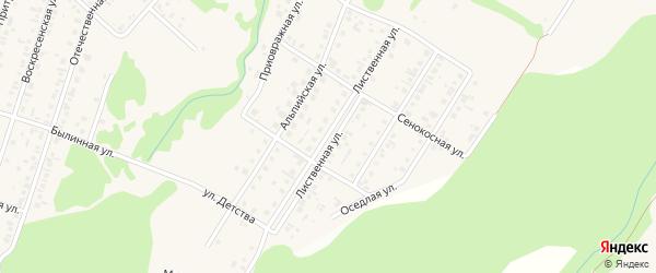 Лиственная улица на карте поселка Бельмесево с номерами домов