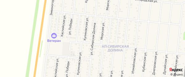 Улица Сибирская Долина на карте поселка Бельмесево с номерами домов