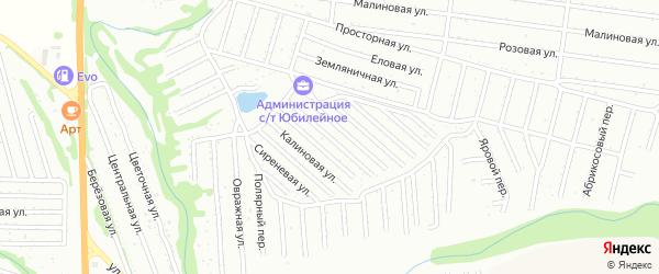 Грушевая улица на карте территории СТ Юбилейное с номерами домов
