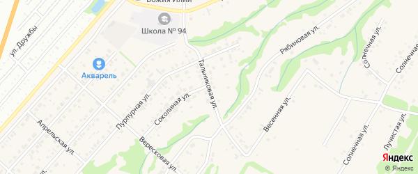 Тальниковая улица на карте поселка Бельмесево с номерами домов
