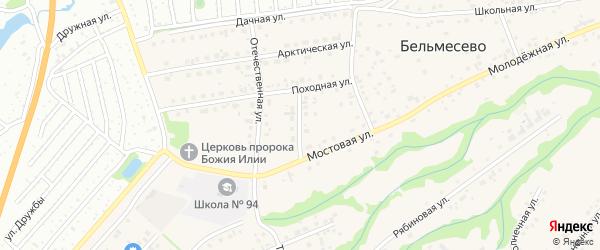 Безымянный переулок на карте поселка Бельмесево с номерами домов