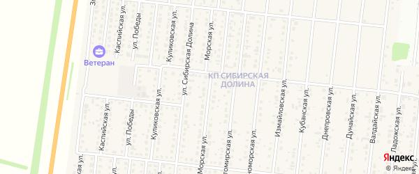 Морская улица на карте поселка Бельмесево с номерами домов