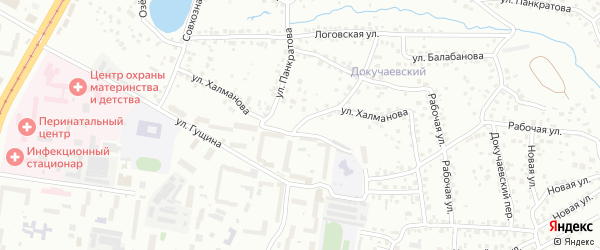 Улица Халманова на карте Барнаула с номерами домов
