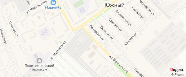 Улица Белинского на карте Южного поселка с номерами домов