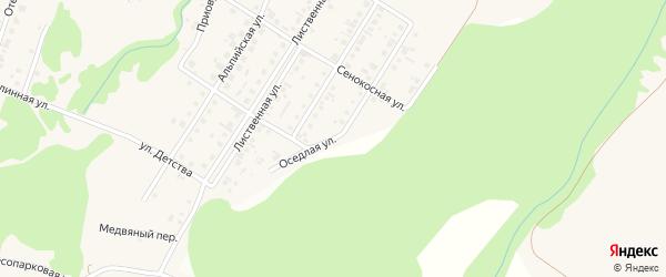Оседлая улица на карте поселка Бельмесево с номерами домов