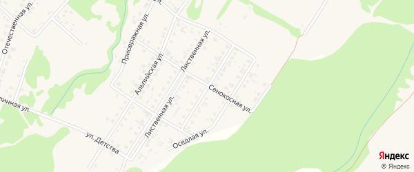 Ковыльная улица на карте поселка Бельмесево с номерами домов