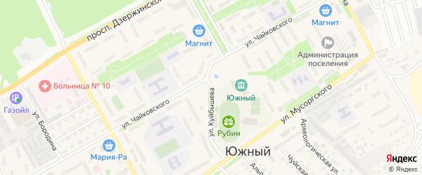 Улица Куйбышева на карте Южного поселка с номерами домов