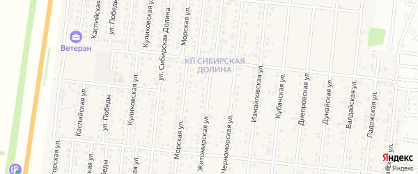 Житомирская улица на карте поселка Бельмесево с номерами домов