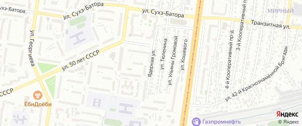 Ядерная улица на карте Барнаула с номерами домов